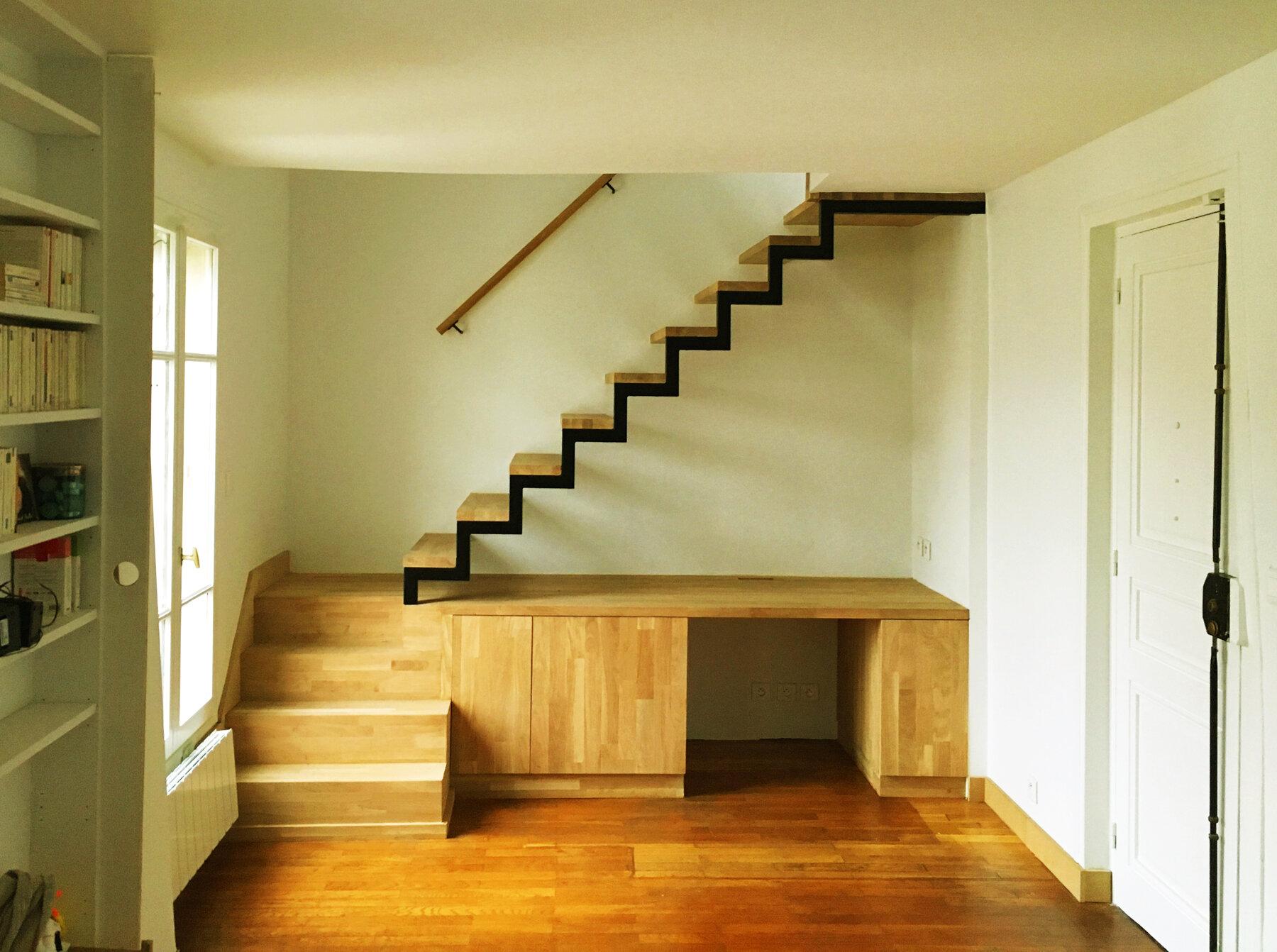 Creation D Une Tremie Escalier ᐅ réaménagement intérieur à paris ≡ création d'un escalier