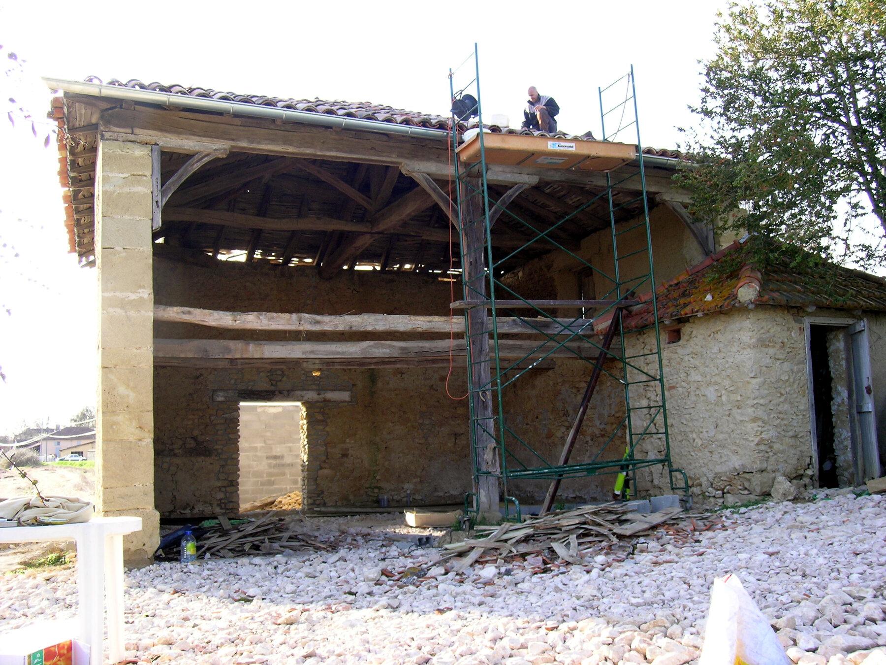 rénovation et extension d'une grange