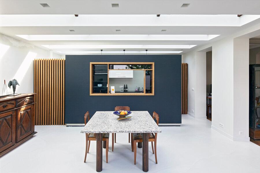 Extension d'une maison en pierre de meulière - Nogent