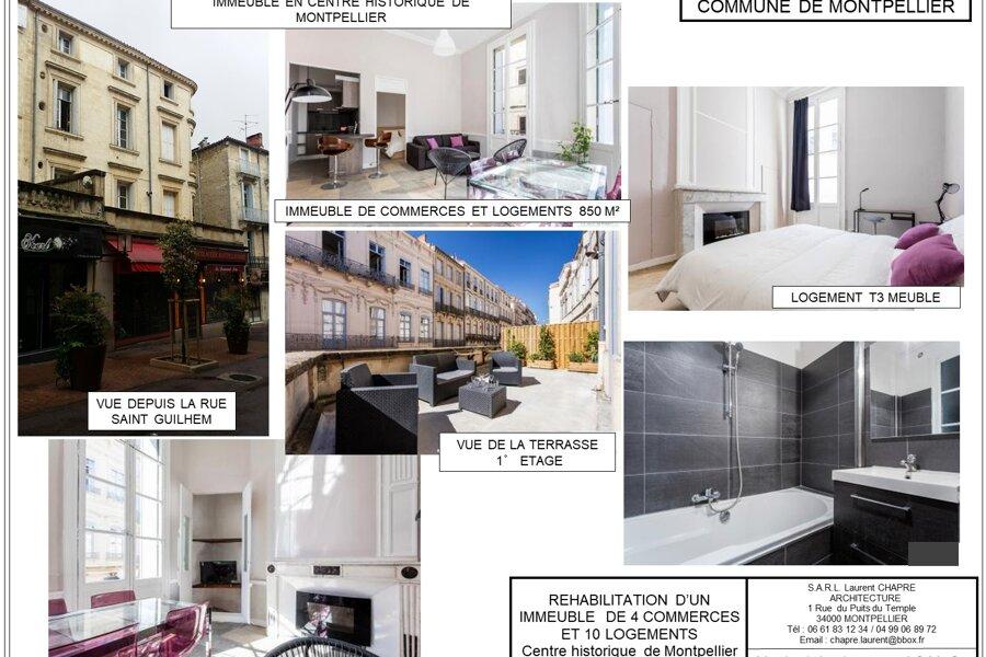 Réhabilitation d'un immeuble en centre historique de Montpellier