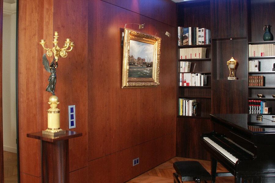 restructuration de bureaux en appartement familial au Trocadéro