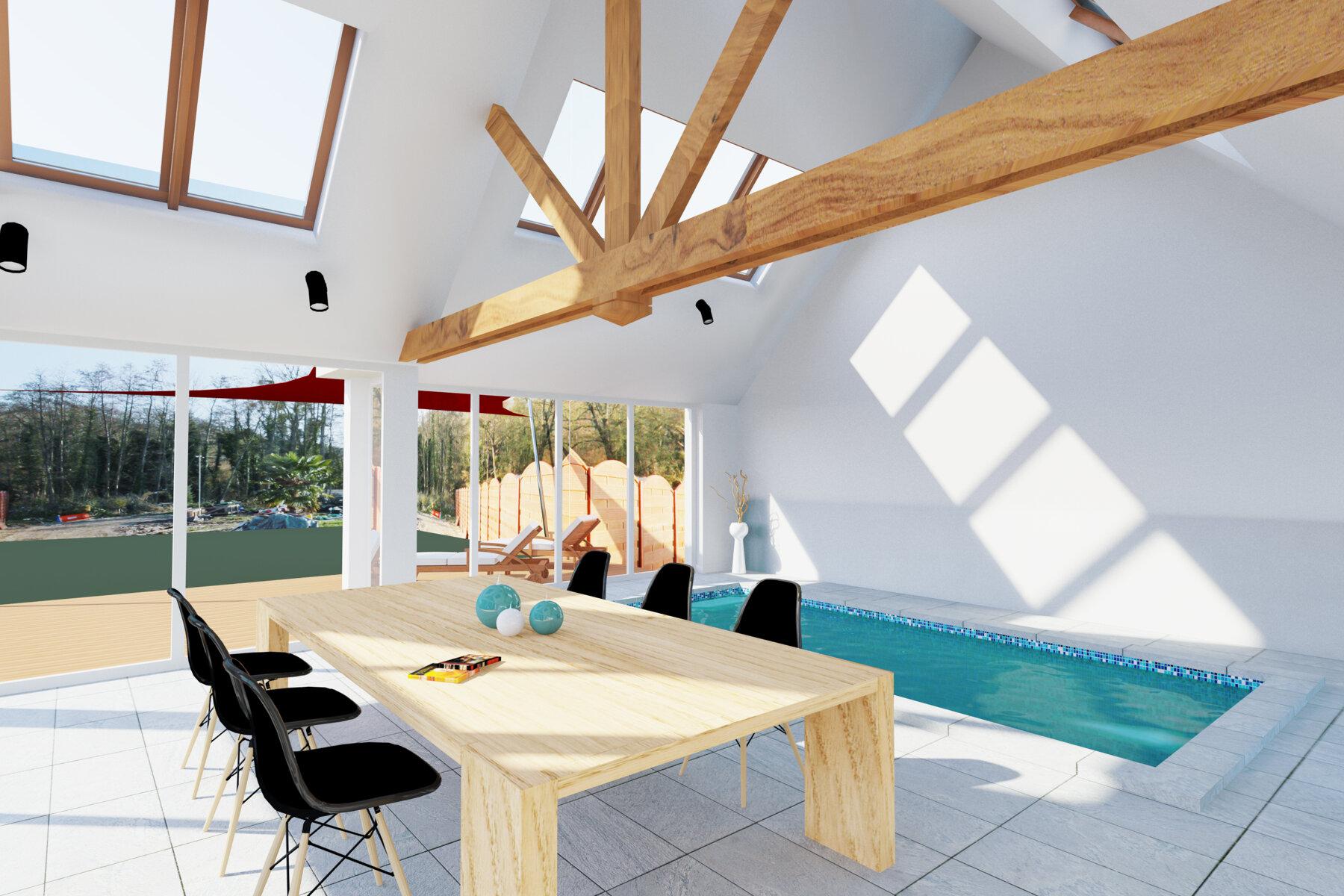 Projet Piscine Saint Andre De Cubzac ᐅ extension à bury ≡ construction d'une piscine couverte
