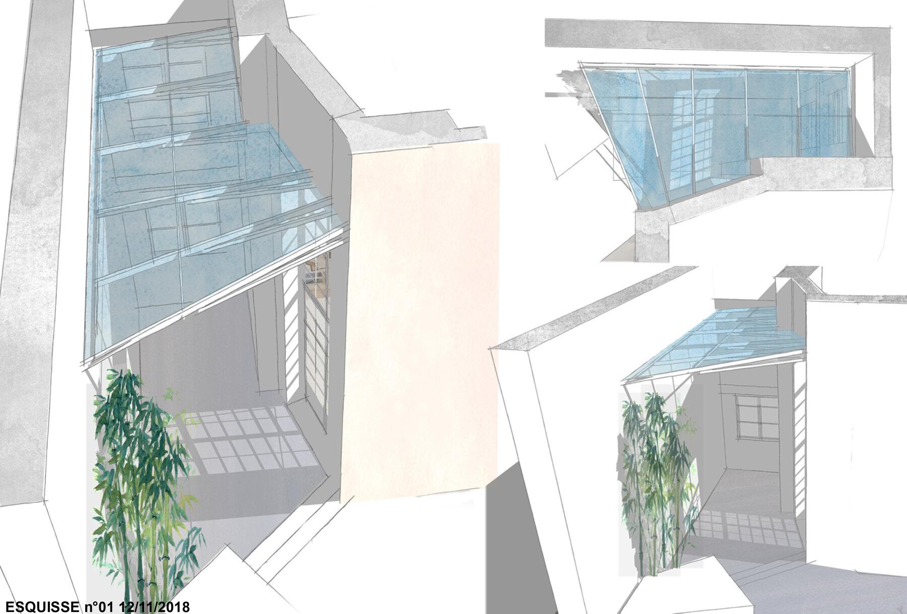Création d'une toiture en verre - Paris I