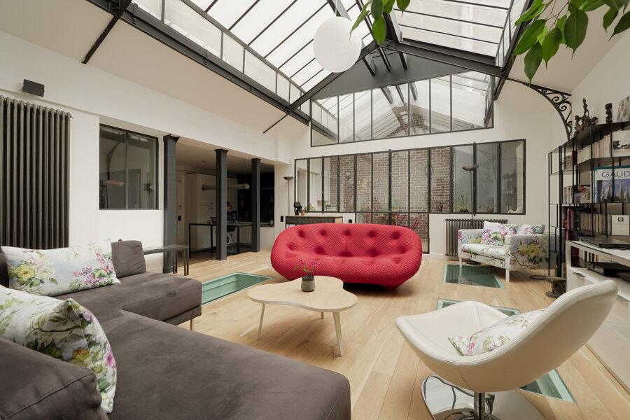 C09 - aménagement loft en souplex - rue de liège, paris