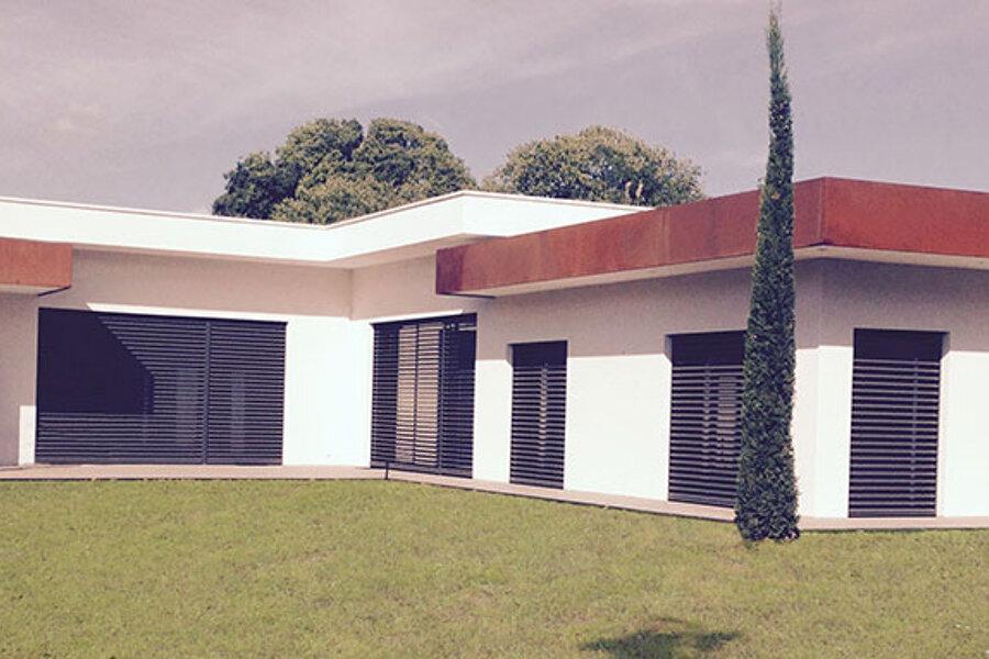 Villa d'exception à parement Corten