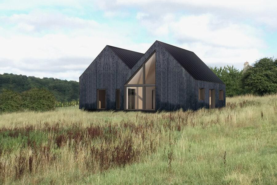 Construction d'une maison en Suisse Normande