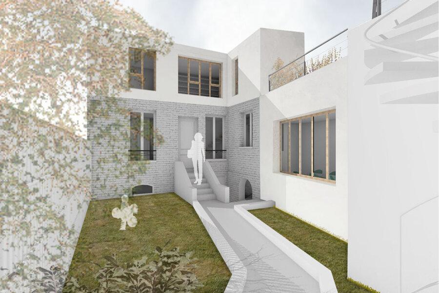 Surélévation et extension d'une maison de ville - Montreuil (93100)