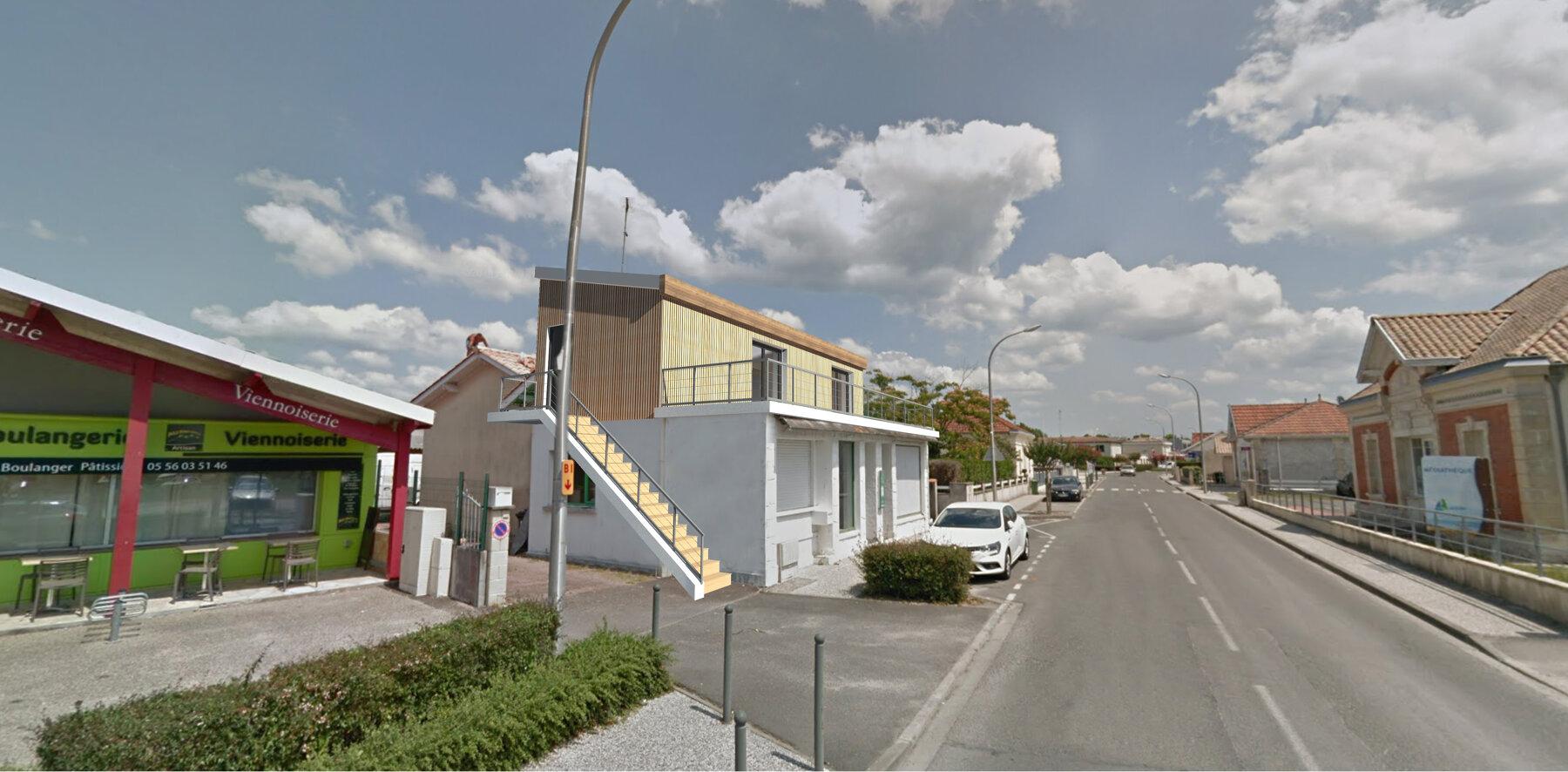 Surélévation et extension d'une maison individuelle en centre ville