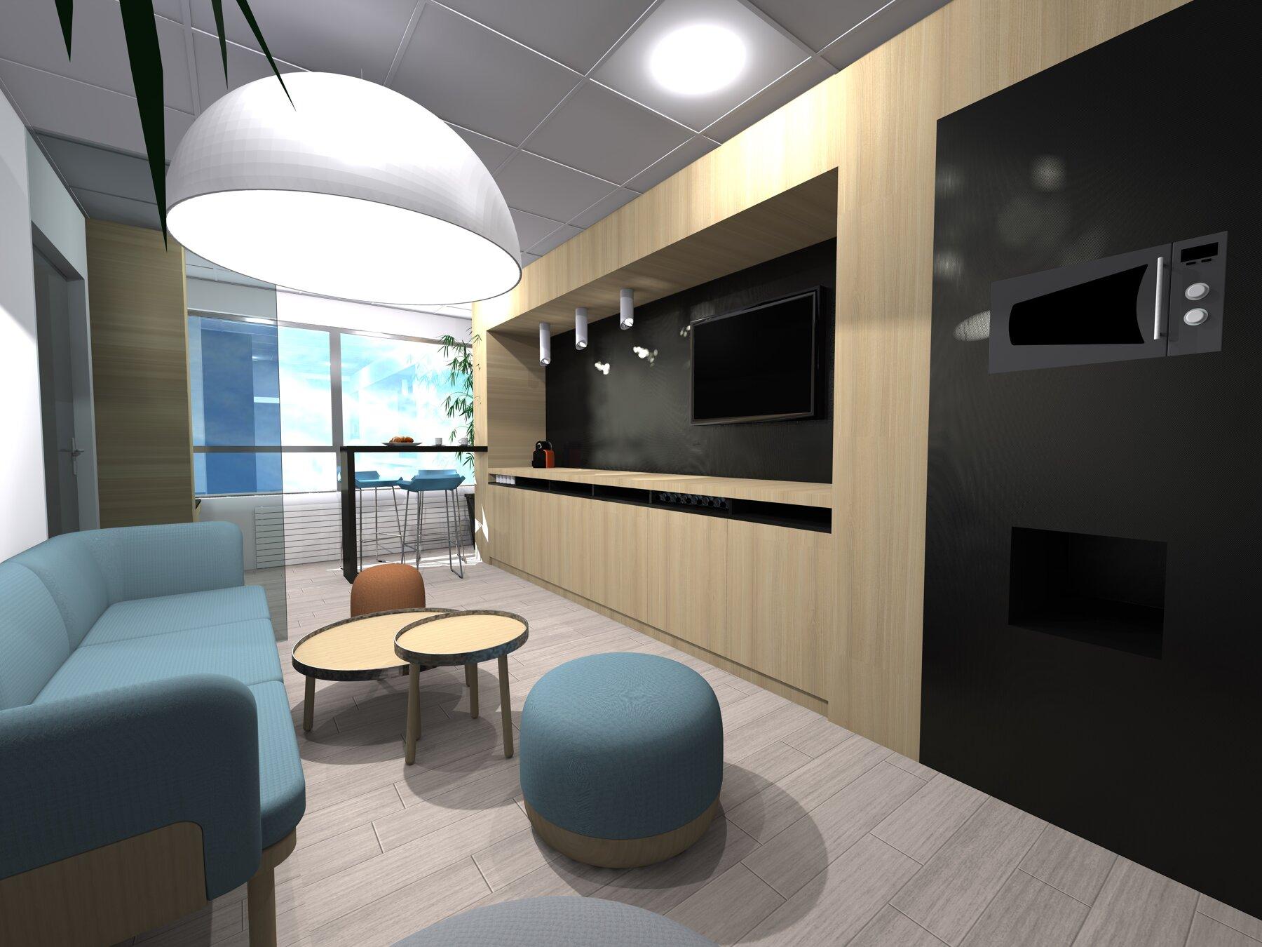 Espace lounge de bureau