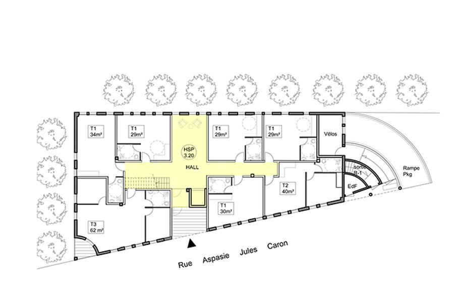Surélévation et transformation d'un immeuble de bureaux en logements collectifs