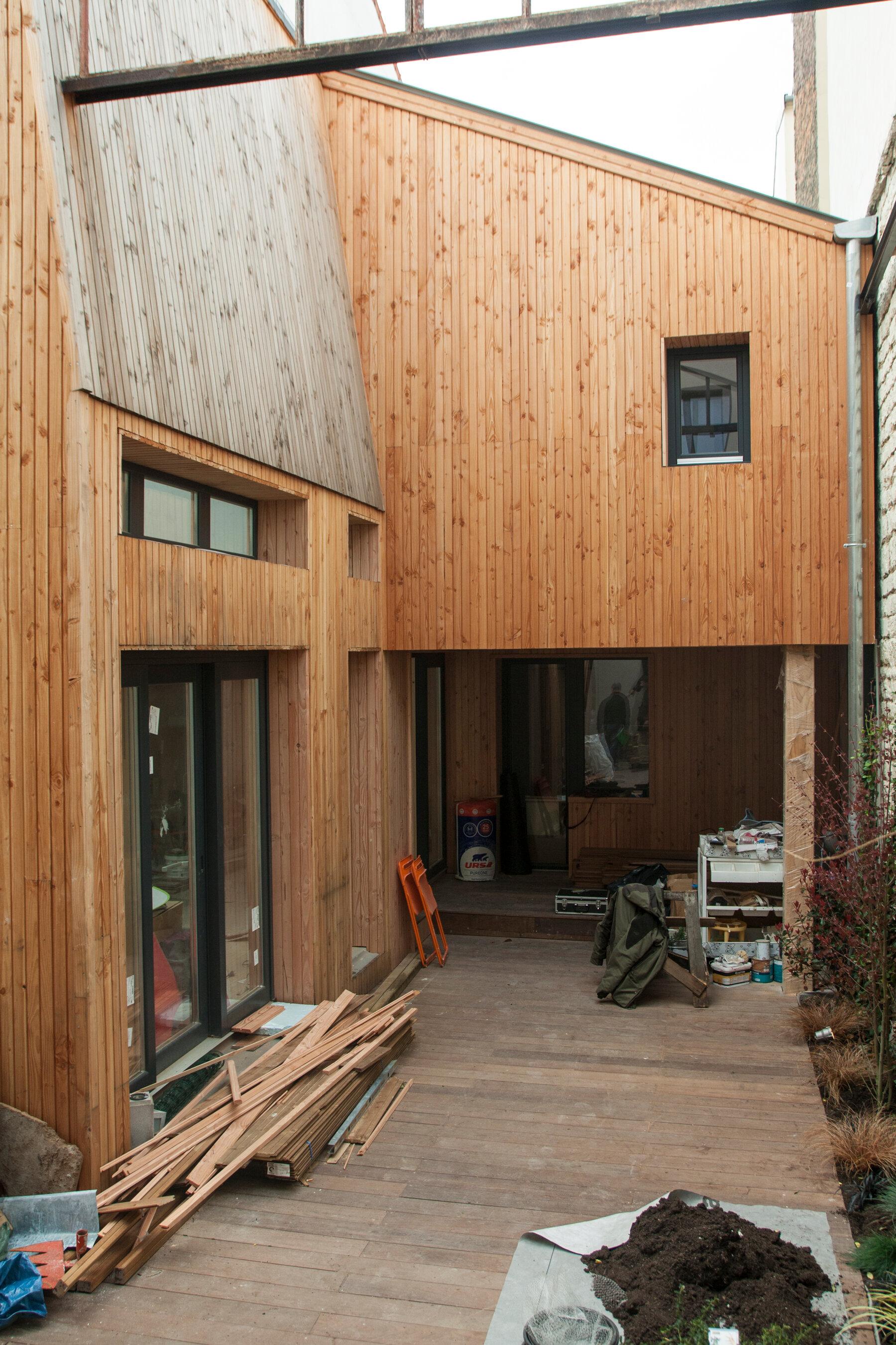 Transformation d'un édifice industriel en habitation