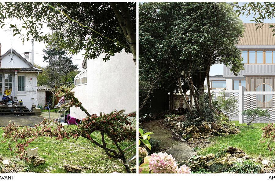 Surélévation et extension d'une maison à Montgeron