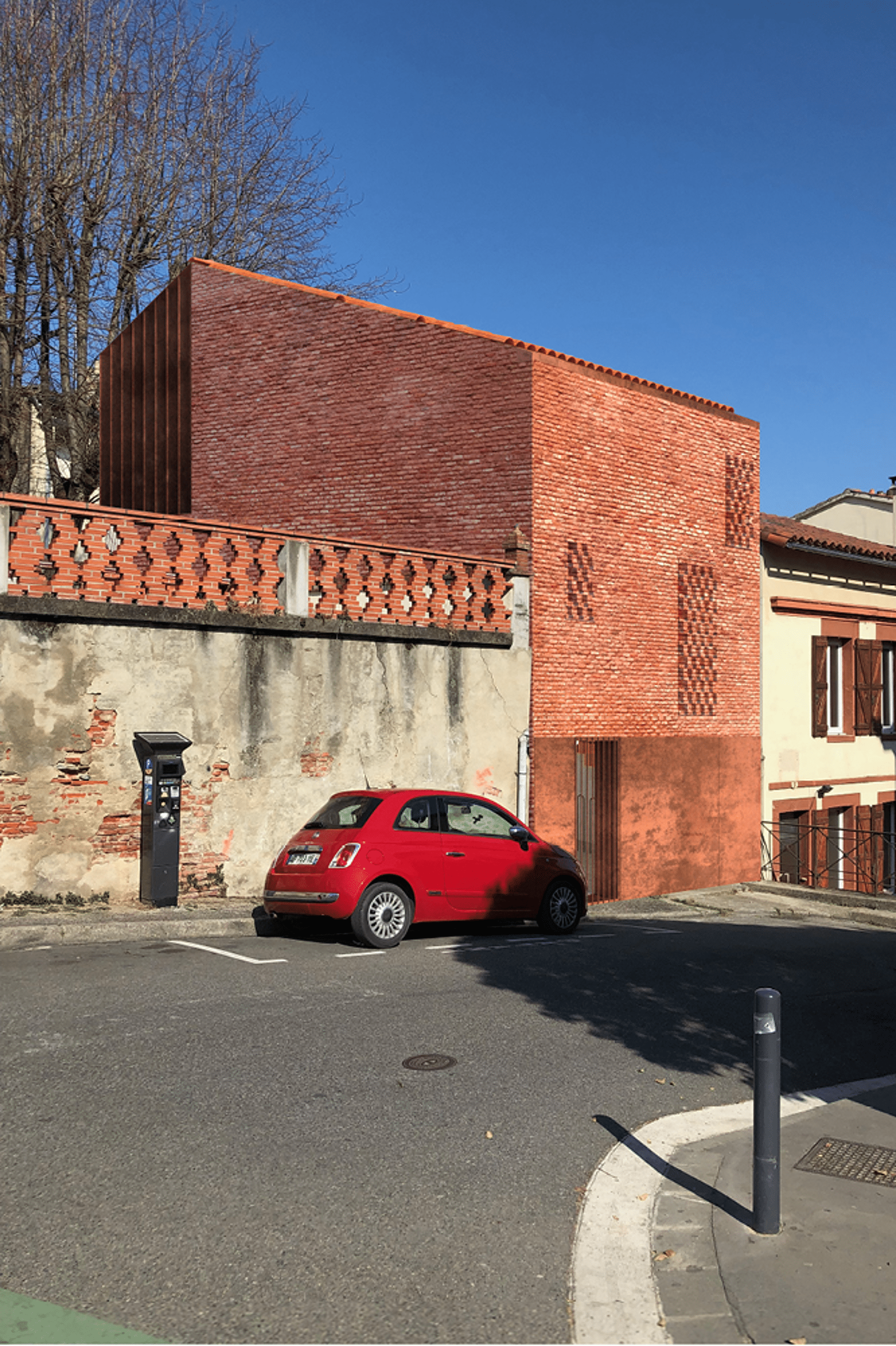 Construction d'une maison rue Gutenberg