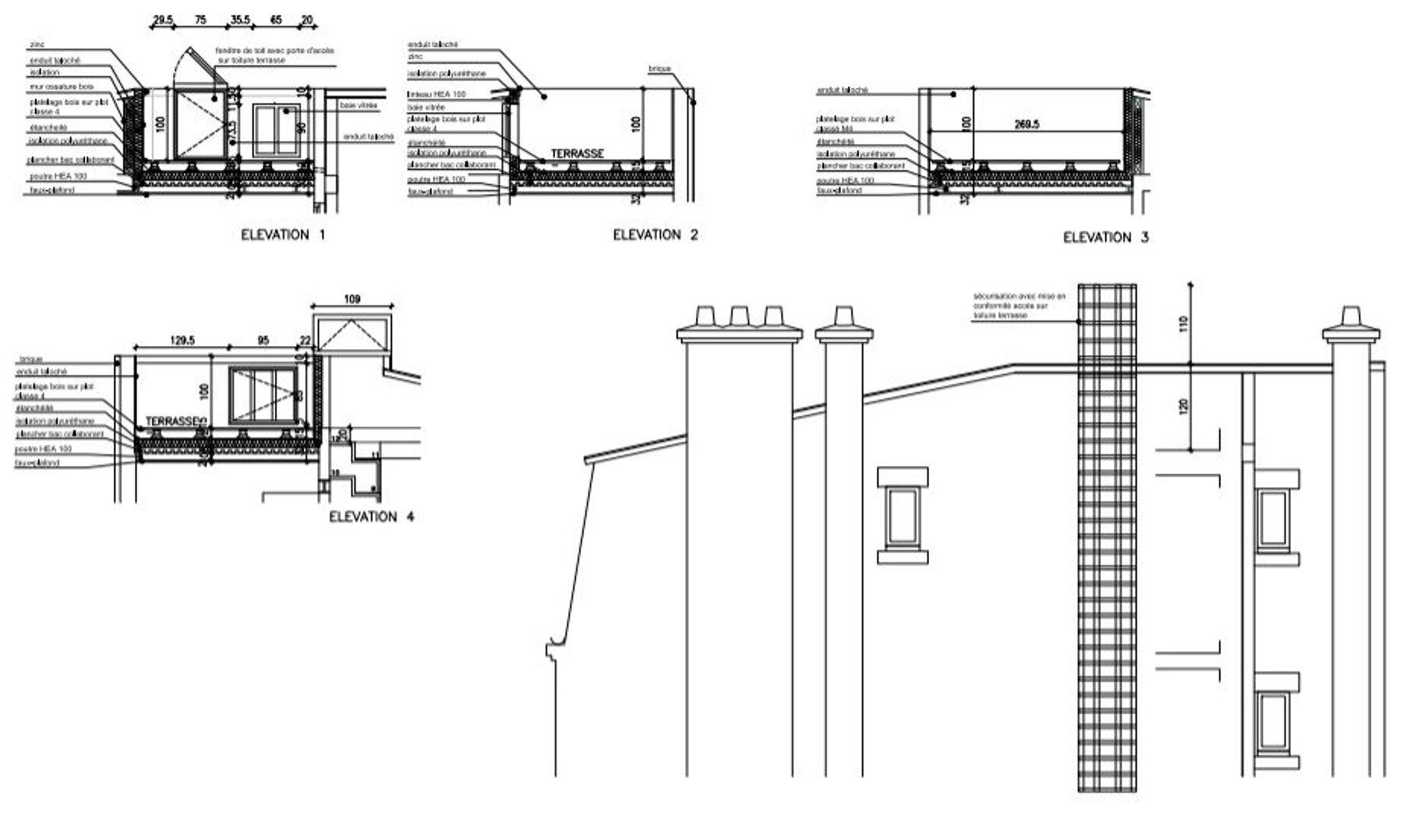 Création d'une terrasse et réaménagement intérieur d'un appartement