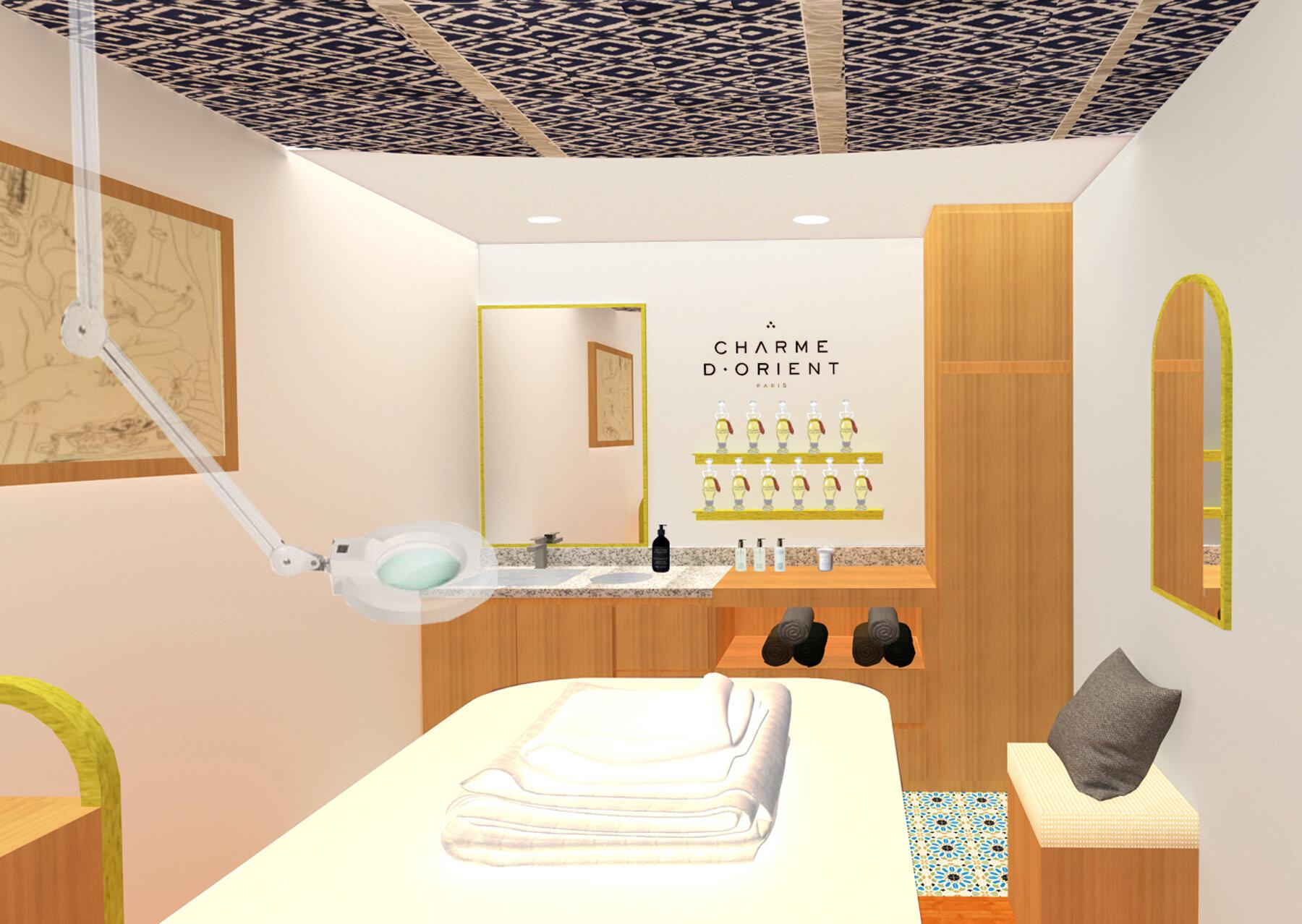 Concept design pour une boutique et un institut de soins