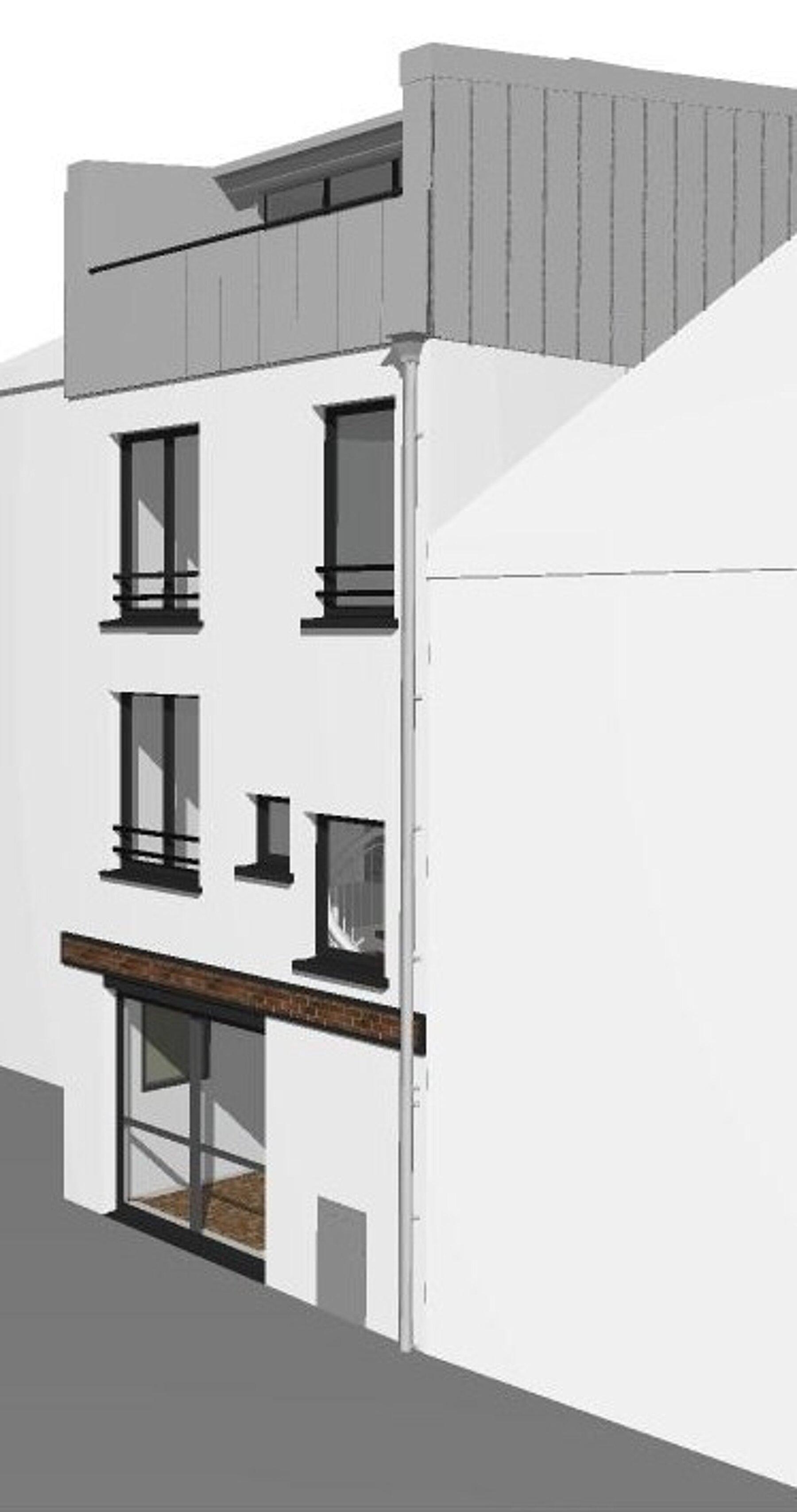 Surélévation d'une maison de ville