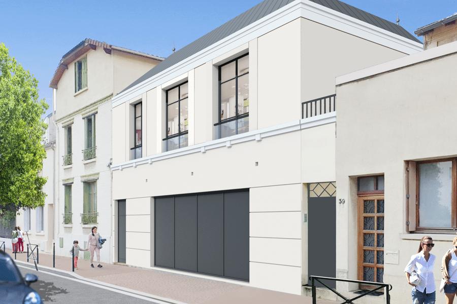 Projet SURELEVATION sur garage réalisé par un architecte Archidvisor