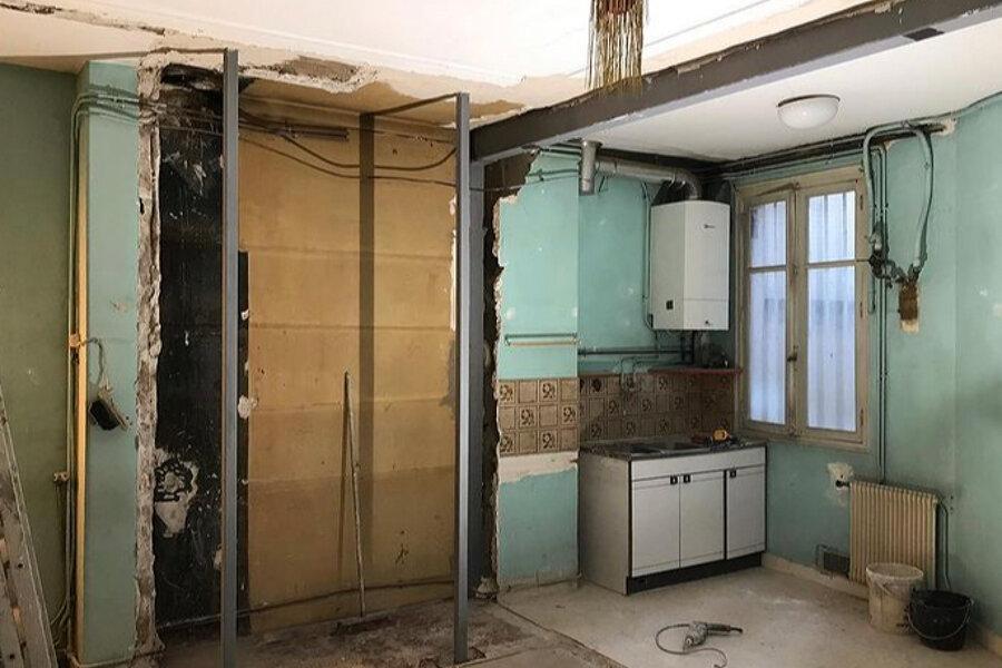 Rénovation d'un appartement hausmannien, reprise de structure, ouverture mur porteur