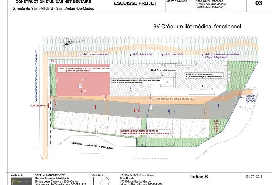 Projet Construction d'un complexe médical - Saint Aubin de Medoc réalisé par un architecte Archidvisor