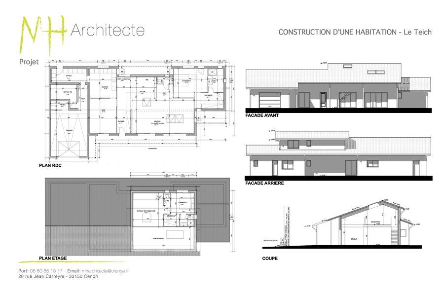 Projet Construction d'une maison individuelle - Le Teich réalisé par un architecte Archidvisor