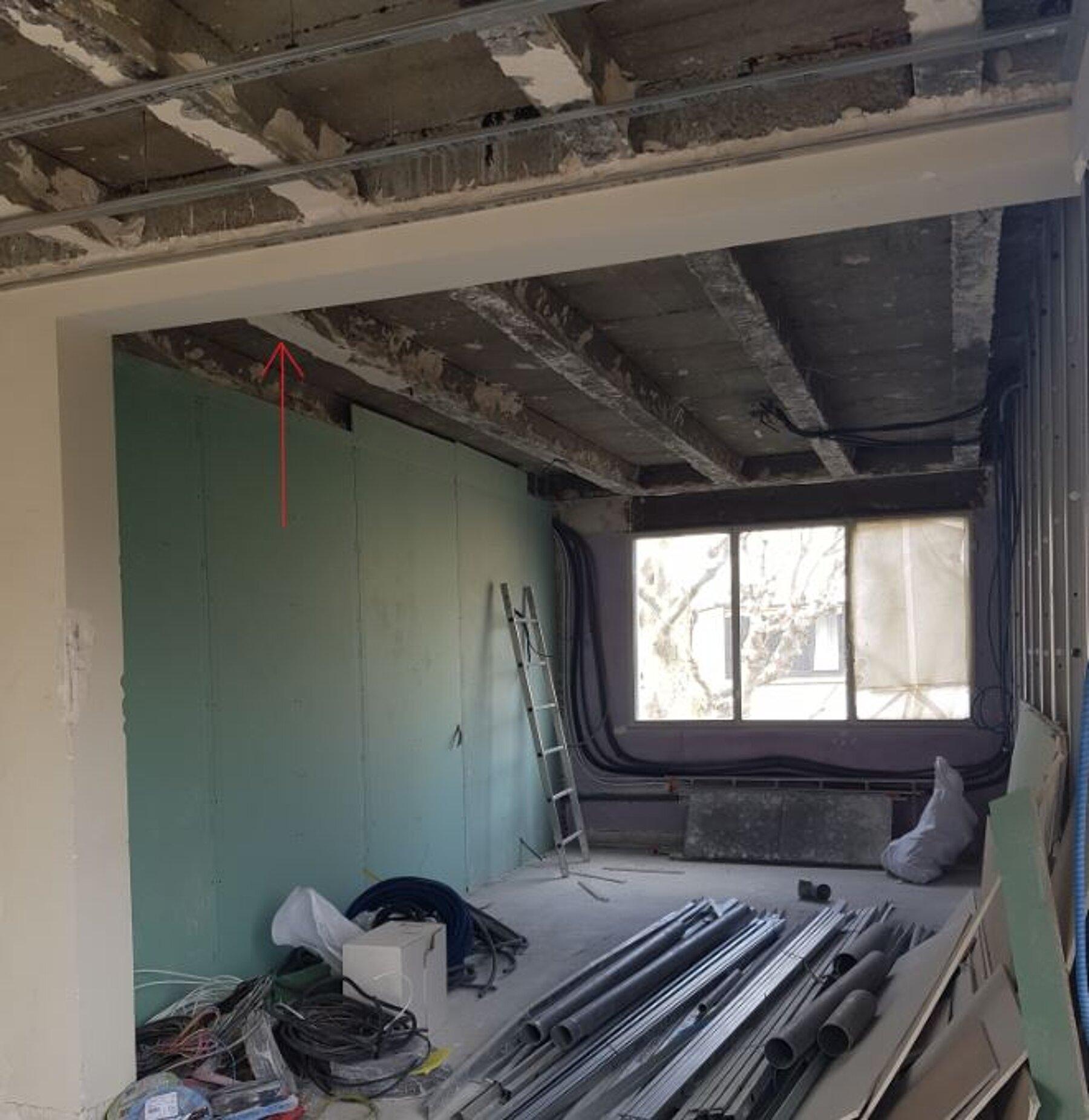 Extension d'un appartement, restructuration d'un appartement , reprise de structure et création d'un accès vers toiture terrasse