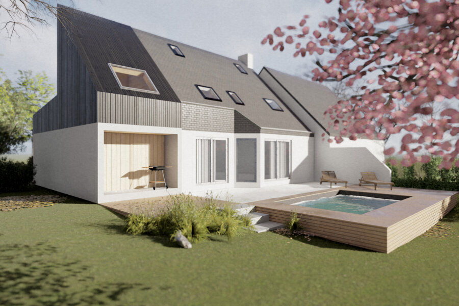 Projet Extension d'un pavillon réalisé par un architecte Archidvisor