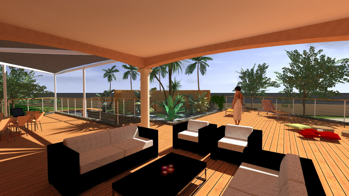 piscine et pool house de la maison v - archidvisor