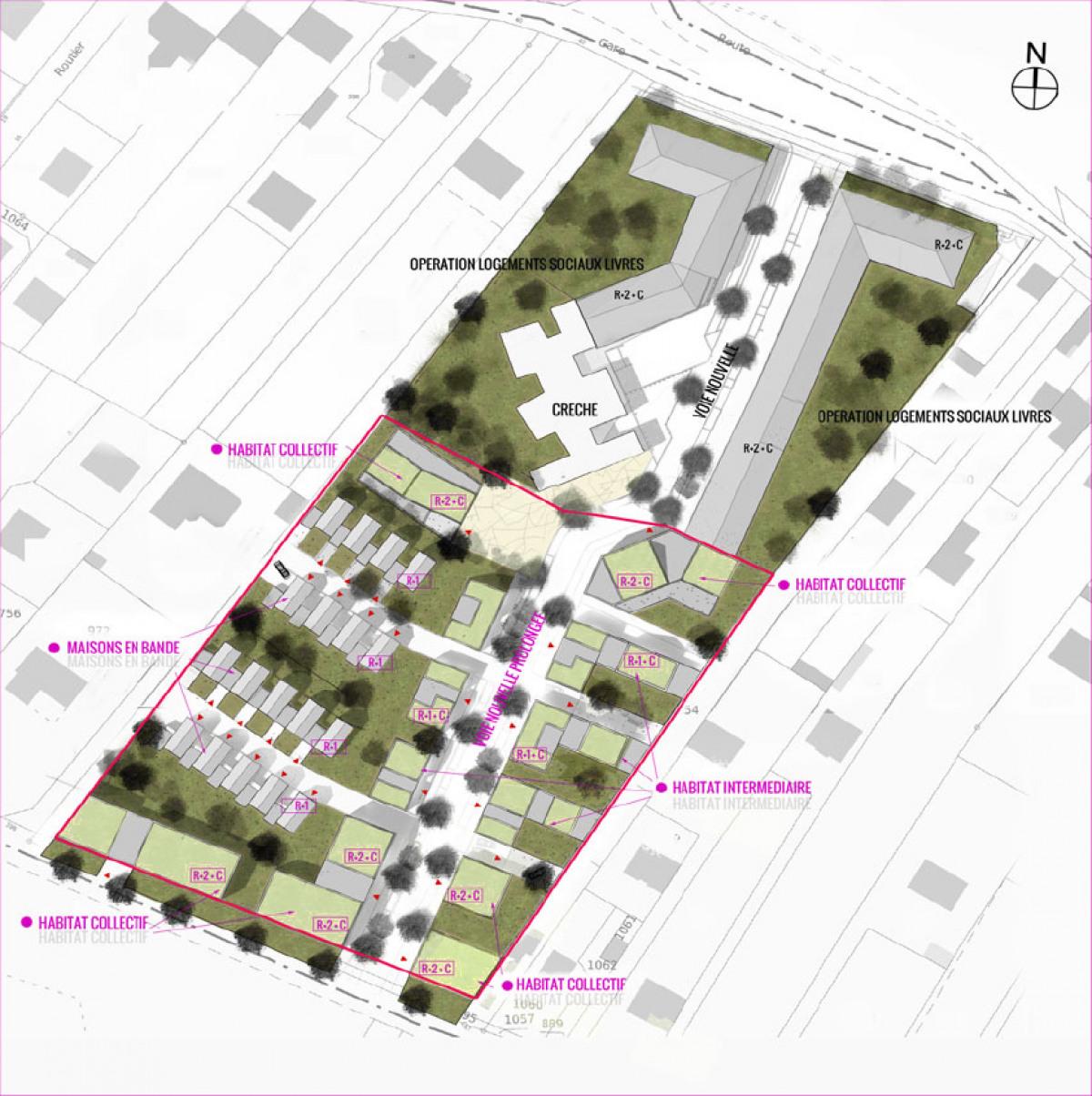 Construction neuve rosny sur seine rue de la gare - Plan de masse maison individuelle ...